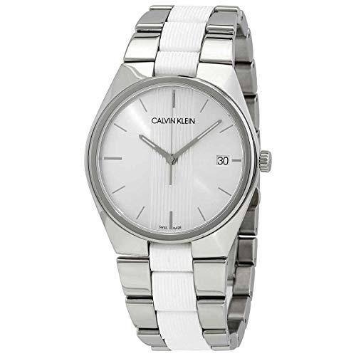 Calvin Klein Contrast - K9E211K6 Stainless Steel/White Silicone One Size