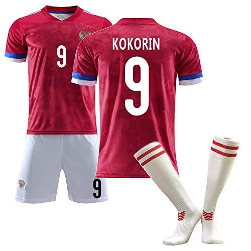 CBVB Fußballtrikot, Kokorin Arshavin Kerzhakov, Trikots des Europapokals Russland 2020 (Heim), Fußballanzüge für Erwachsene und Kinder, anpassbar-9#-18