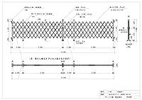 ゲート工業 アルミゲート 高さ1.8m 間口13.2m 両開き 18AYW-132-33