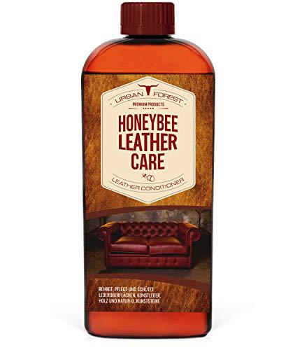 URBAN FOREST Lederöl zur Lederpflege von Sattel- & Zaumzeug I Schützt & pflegt als Lederpflegemittel Autositze Möbel Schuhe Taschen I Premium Leder Conditioner Leder-Öl Honeybee Leather Care 500ml