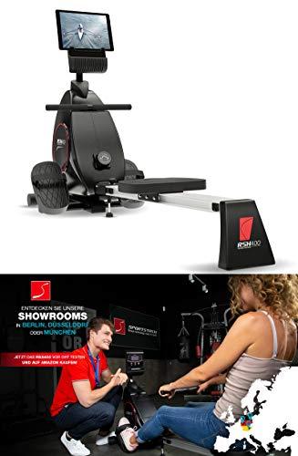 Sportstech RSX400 Rudergerät – Deutsche Qualitätsmarke -Video Events & Multiplayer APP, Pulsgurt inkl. –Rudermaschine für Ihr Zuhause, klappbar mit 8fach Magnetwiderstand und kugelgelagertem Sitz - 2