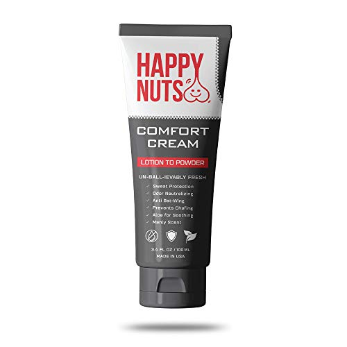 Happy Nuts Sweat Defense and Odor Control - Comfort Cream Lotion for Men