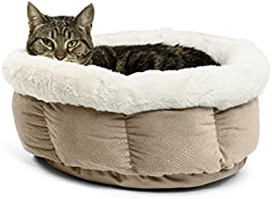 Best Friends by Sheri Cuddle Cup Ilan Cozy Microfiber Cat and Dog Bed in Wheat