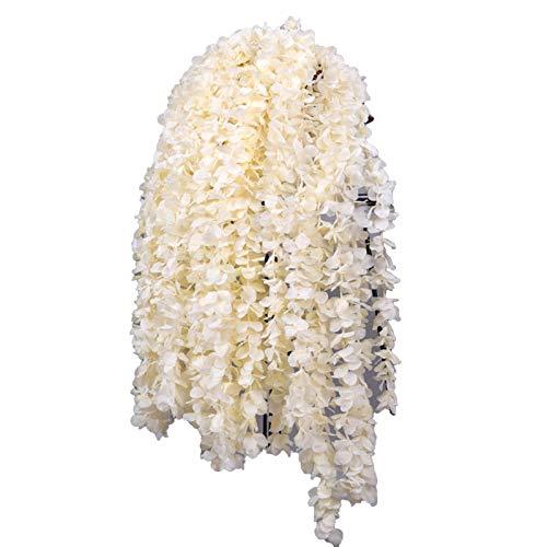 CJFael 10 flores artificiales artificiales para colgar en la vid de flores artificiales de imitación de colores para ventana, jardín, boda, fiesta, decoración de champán