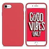 New Phoone - Funda de Silicona iPhone   Funda de iPhone 7 - Funda iPhone 8 o Funda iPhone SE 2020 - Funda Ligera con Tacto Suave, Resistente y Antigolpes de Color Frambuesa