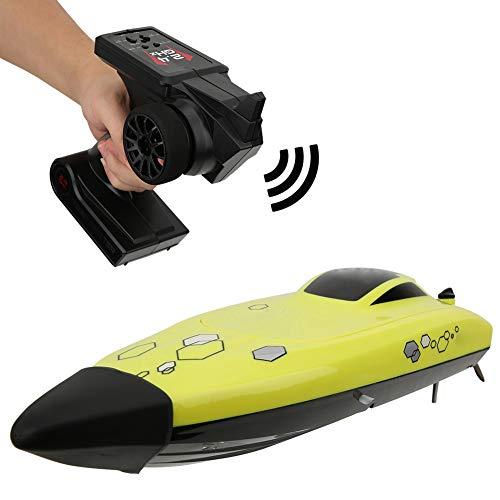 Ferngesteuertes Boot Schnellboot, 2.4G 4 Kanäle 25KM/H RC Boot High Speed für Pools & Seen, Wasserdichtes Rennboot Modellboot Ferngesteuert Boot Spielzeug für Kinder & Erwachsene