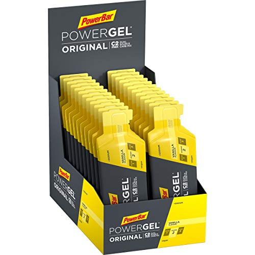 PowerBar PowerGel Original Vanilla 24x41g - High Carb Energy Gel + C2MAX Magnesio e Sodio