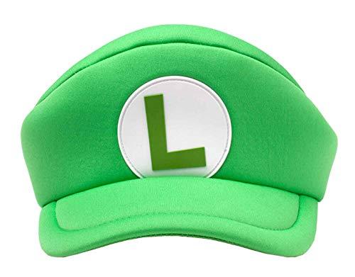 Nintendo Luigi Hat Cap Super Mario L Logo Shaped Official Green