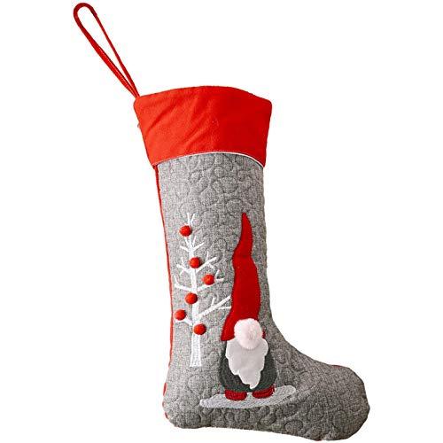 letaowl Regalos de Año Nuevo Bolsa de Navidad Medias Decoraciones de Navidad para el hogar Calcetines Decoración del árbol de Navidad Decoración