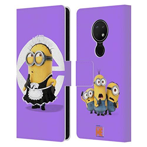 Officiële Despicable Me Bob meid kostuum Minions Lederen Book Portemonnee Cover Compatibel voor Nokia 6.2
