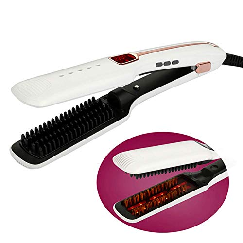 Find Discount SYGJ Styling Tools & Appliances Hair, Flat Iron 1 Inch Titanium Plates Hair Straighten...