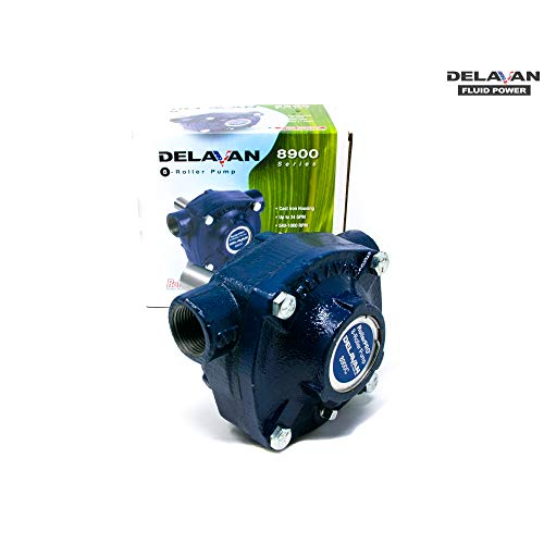 Delavan Cast Iron 8-Roller Pump - 24 GPM, 150 PSI, 1000 RPM, Model 8900C