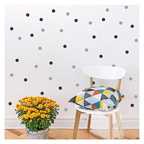 JSJJAYU Wall Stickers Polka Dots Wall Decal Removable 140 Small Polka Dots DIY Nursery Kids Wall Art Decoration baby Kids Room Home Decor (Color : 70 tree green 70teal, Size : 1inch diameter)