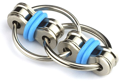 Tom's Fidgets Original Flippy Chain Fidget Toy - Perfect for ADHD, Anxiety, and Autism - Blue