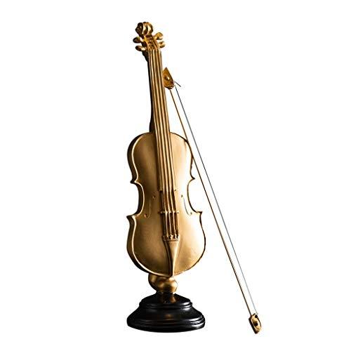 DECORACIÓN Adornos Estatuas Esculturas Vintage para El Hogar Escritorio Violín Instrumentos Musicales...
