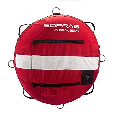 Sopras Sub FreeDiver Buoy Instructor Float Training Buoy Scuba Diver Freediving Snorkeling Flag with Stiffener Florida Legal Size