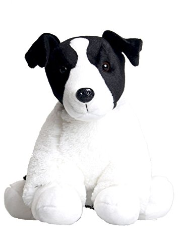 Perro Blanco y Negro - Peluche 25cm - kit para crear un oso de peluche - sin costura
