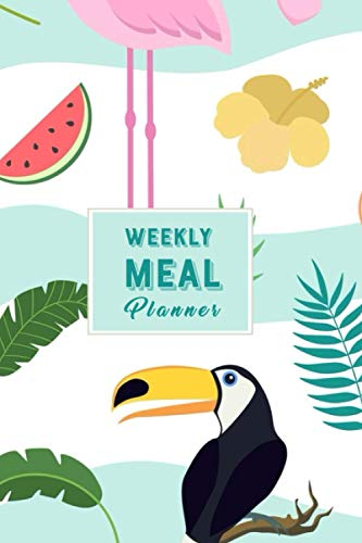 Flamingo Weekly Meal Planner: Beautiful 52 Weeks Meal Planning Pages with Weekly Grocery Shopping List – Flamingo