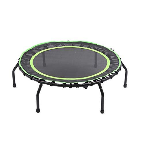 Mini trampoline - indoor sport trampoline - geschikt voor kinderen/volwassenen - 40 inch ronde trampoline - groen - maximale draagvermogen 240kg