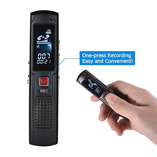 KKmoon SK-013 8G Grabadora de voz con Función MP3,Apoyo Reproducción en Bucle,Batería Incorporada de 350mAh,Hasta 22h de Tiempo de Trabajo
