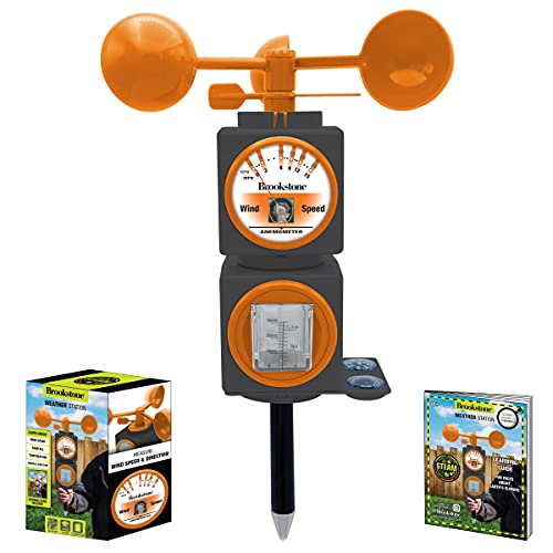 Brookstone Children's Weather Station Kit - Meteorologist STEAM Toy for Kids & Teens, Boys and Girls