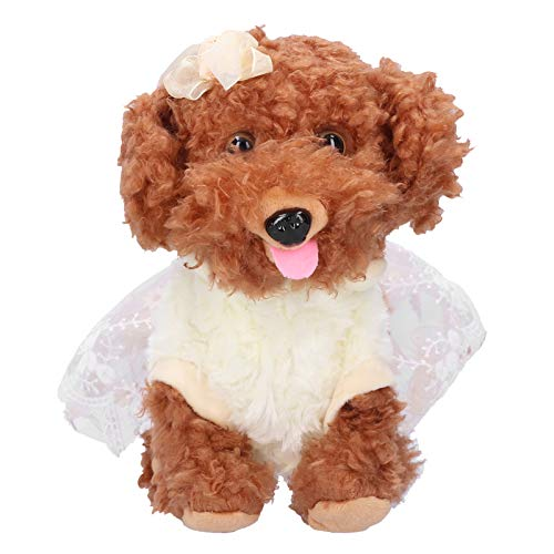 KUIDAMOS Perro de Control de Voz, Mascota electrónica Inteligente Lindo para niños para Juguete de niños(Osito de Peluche)