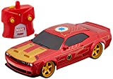 Jada Toys Marvel 1:16 Iron Man 2019 Dodge Challenger SRT Hellcat RC Remote Control Car 2.4GHz, Toys for Kids and Adults