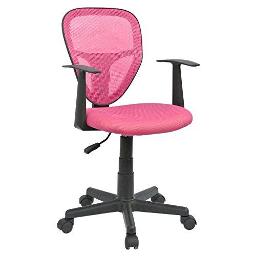 CARO-Möbel Schreibtischstuhl Kinderdrehstuhl Bürostuhl Drehstuhl Studio in pink rosa mit Armlehnen, höhenverstellbar