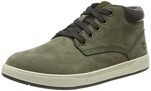 Timberland Unisex-Kinder Davis Square Leather Chukka Sneaker, Grün (Dark Green Nubuck), 31 EU