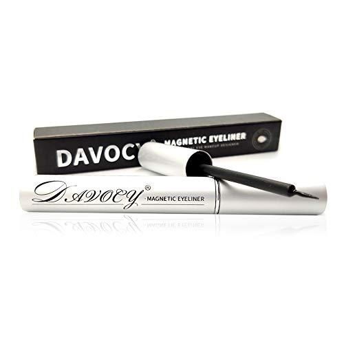 Davocy Magnetic Eyeliner for Magnetic Eyelashes, Strong Hold, Latex-Free, Waterproof Magnetic Eyeliner for Sensitive Eyes, No Glue Needed, Surper Large Capacity, 6ML 0.18OZ