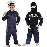 Polizei Kinder Einsatzkommando Kostüm 134 - 140 für Fasching Karneval Polizist