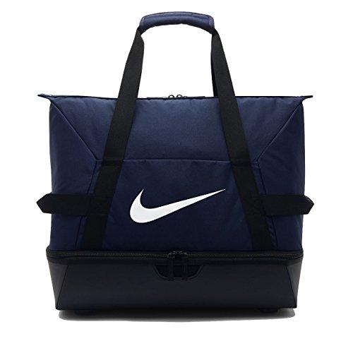 Nike Academy Team Hardcase M, Borsone da Calcio Unisex-Adulto, Blu_Bianco, 30.5 x 40.5 x 48.5 centimeteri (W x H x L)