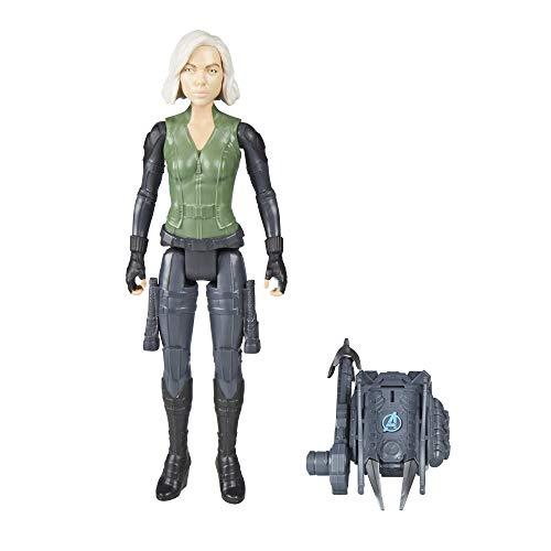 Avengers Boneco Figura de Ação e Acessório Power FX Marvel Titan Hero Series Vingadores Guerra Infinita Verde/Cinza/Marrom