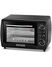 Black+Decker 19L Double Glass Multifunction Toaster Oven with Rotisserie for Toasting/ Baking/ Broiling, Black - TRO19RDG-B5, 2 Years Warranty