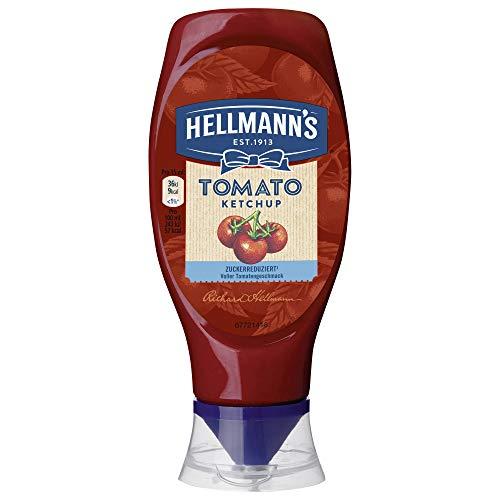 Hellmann's Tomaten Ketchup Zuckerreduziert im Squeezer, 8er Pack (8 x 430 ml)
