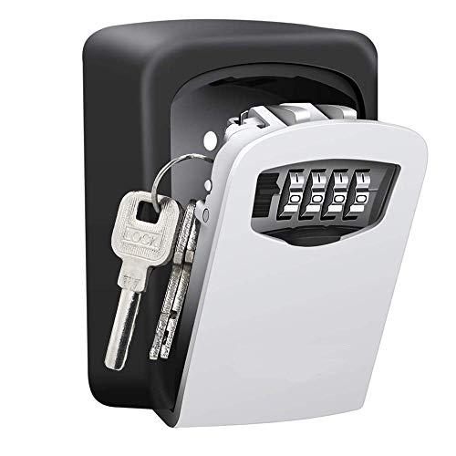 Nestling Schlüsseltresor mit 4-stelligem Zahlencode, Kombinationsschlüssel Safe Speicher Verschluss Kasten für Haus, Garagen, Schule Ersatz Haus Schlüssel
