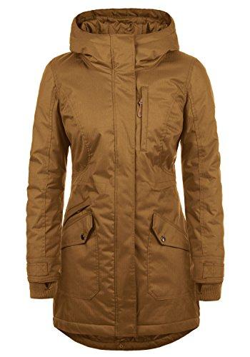 DESIRES Bella Damen Übergangsparka Parka Übergangsjacke Lange Jacke mit Kapuze, Größe:XL, Farbe:Cinnamon (5056)