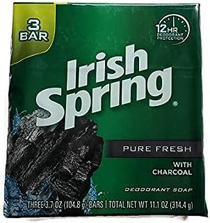 Irish Spring Pure Fresh with Charcoal Bar Soap - 3 Bars