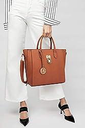 Women Large Tote Bags Designer Handbags and Purses Laptop Shoulder Bags Satchel Work Bags Vegan Leather Top Handle Bags, 3-brown Solid Color Without Wallet