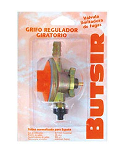 Grifo regulador giratorio  para botella BUTSIR Naranja
