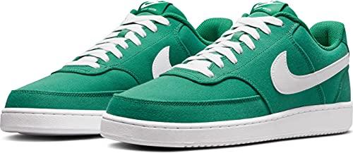 Nike Court Vision Low Canvas, Zapatillas de bsquetbol Hombre, Green Noise White, 44.5 EU