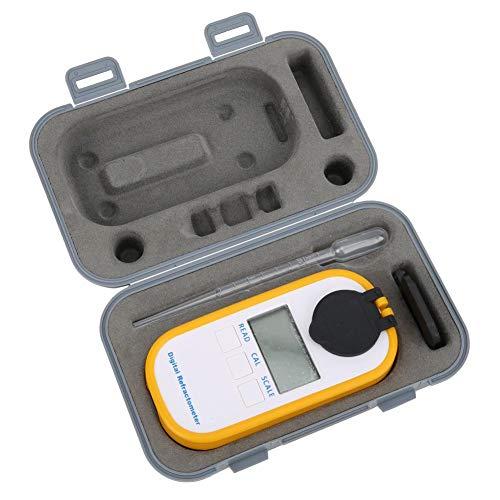 Taidda- Rifrattometro di Zucchero, Portatile Rifrattometro Digitale Brix Cibo Squisito Misuratore di concentrazione di Zucchero Succo di Frutta Vino Birra Bevande Tester(DR301 BRIX0-90)