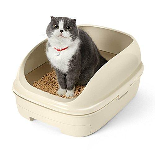 花王 ニャンとも清潔トイレセット ライトベージュ オープンタイプ [猫用トイレ本体]の写真