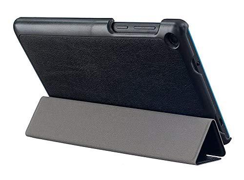 Kepuch Custer Funda para Lenovo Tab 3 7 Essential TB3-710F TB3-710I,Slim Smart Cover Fundas Carcasa Case Protectora de PU-Cuero para Lenovo Tab 3 7 Essential TB3-710F TB3-710I - Negro