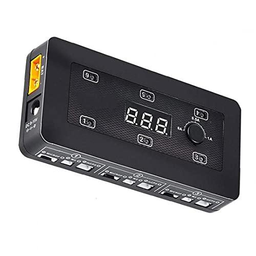 Sanfiyya 1S Cargador de batería de Li-Po con Micro MX Conectores MCPX Pors USB para Las baterías de Li-Po LiHV Litio teléfonos móviles Cámaras de precisión Medidores