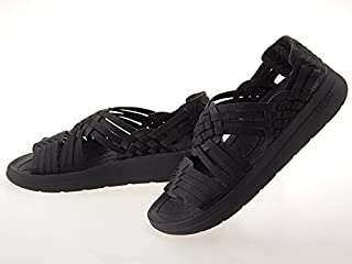 [マリブサンダルズ] MALIBU SANDALS CANYON CLASSIC NYLON SANDAL キャニオン クラシック ナイロン ヴィーガン レザー サンダル スポーツ BLACK ブラック 黒 #MS06-0002 [並行輸入品]
