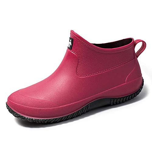 [Leetaker] コックシューズ キッチンシューズ 厨房用 作業靴 食品関係作業用 安全靴 調理靴 飲食店 レインシューズ メンズ レディース 雨靴 耐摩耗性 防水シューズ 靴 滑らない レディース 自転車花見 雨靴 男女兼用