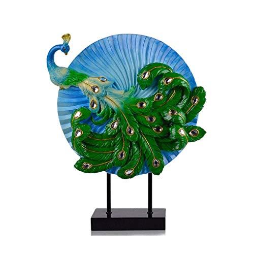 JJSPP Escultura - Pavo Real Arte de la Resina decoración del hogar de la Sala de Estar Porche Estudio de TV Gabinete Cubierta Suave