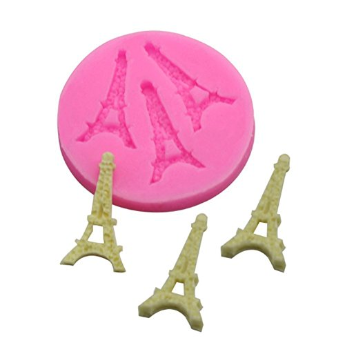 Beiersi Eiffelturm Silikon Form für Fondant Marzipan Tortendeko Ausstecher Seife Dekoration Werkzeug (Stil 2)