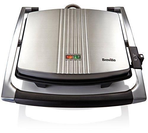Breville VST026 Sandwichera tipo Panini 2000W, 2000 W, 3 Decibeles, Acero Inoxidable